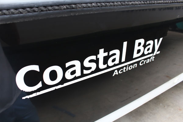 Reflection and restoring black color for Coastal Bay boat