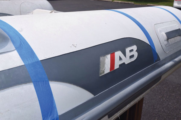 Taped section on tubes of AB Inflatable