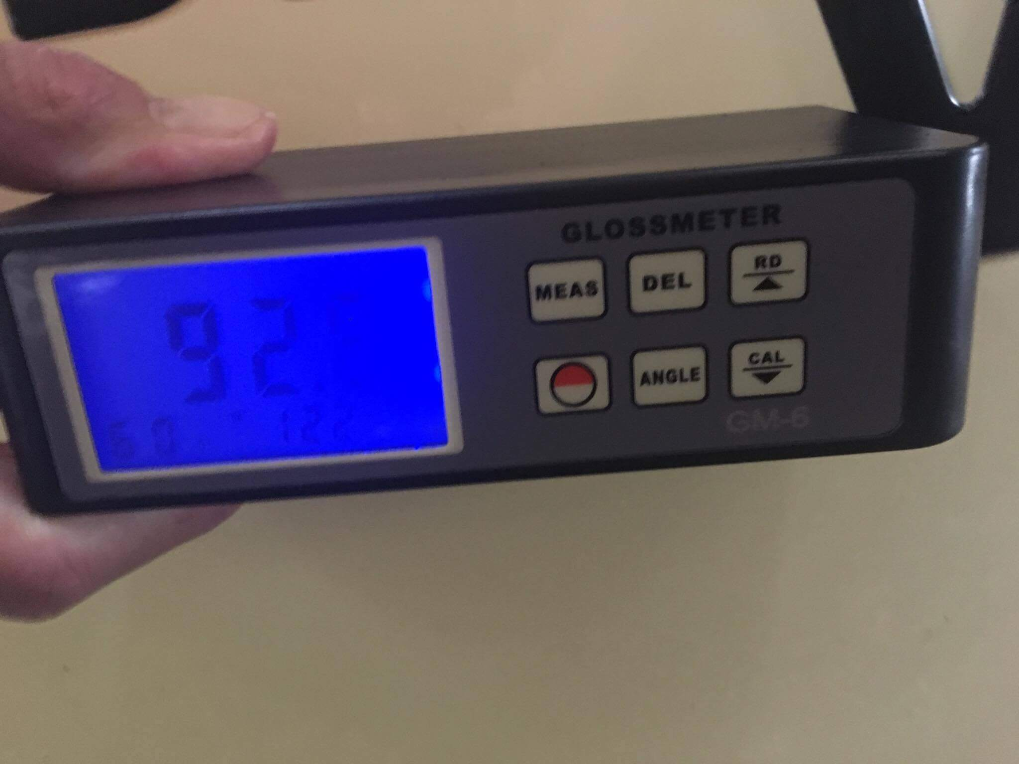 92 gloss meter reading on SeaVee