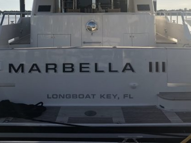 The transom of Marbella III