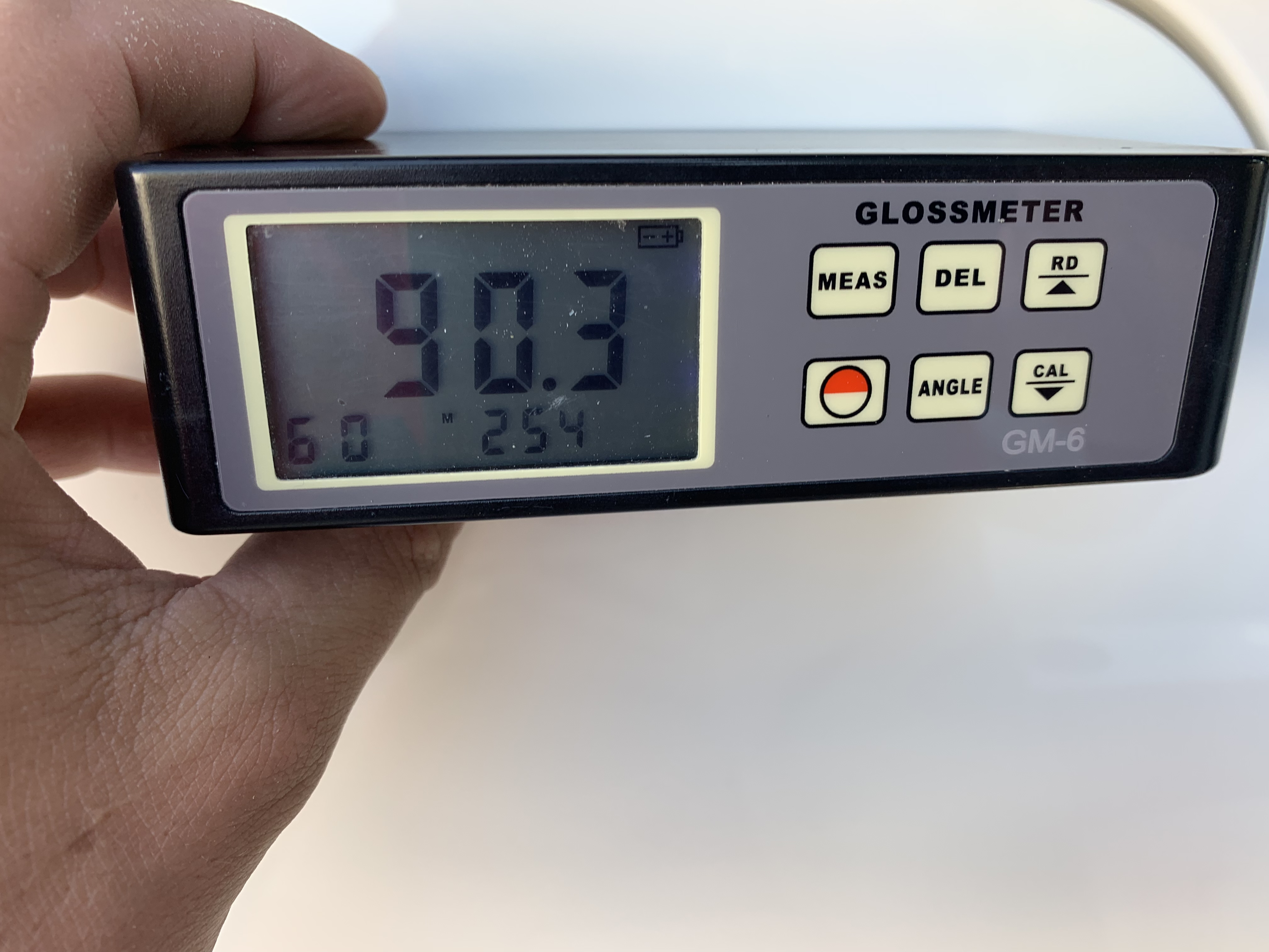 90.3 gloss meter reading after ceramic boat coating